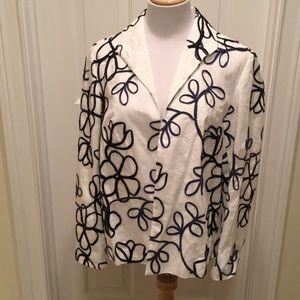 Linen Long Sleeved Lined White Blazer